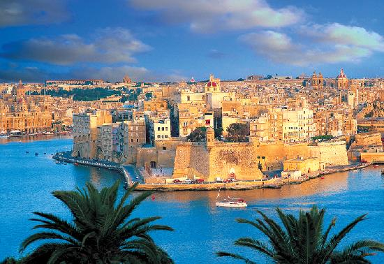 It is located south of sicily and is the sunniest and warmest european