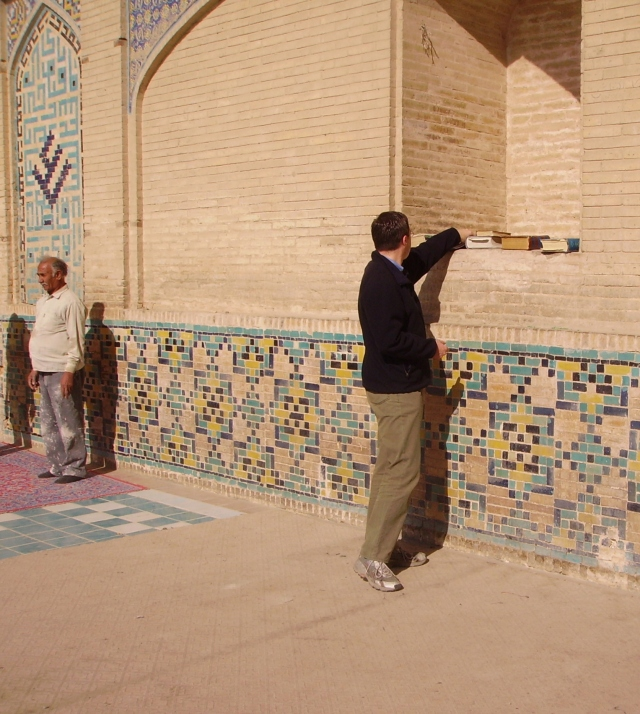 Andreas Moser at Hakim Mosque in Isfahan Iran