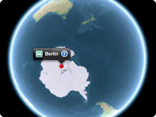 Apple Maps Berlin Antarctica
