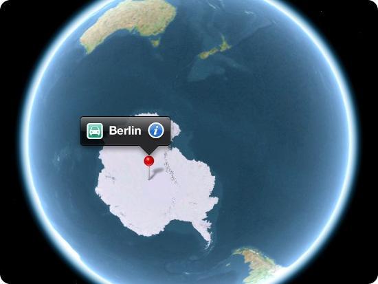 Apple Maps Berlin Antarctica