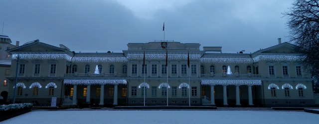 Lithuania Presidential palace winter 1
