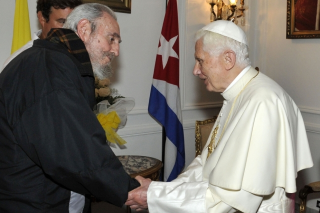 Pope with Fidel Castro