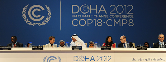 UN climate change summit Doha Qatar