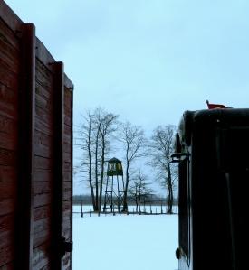 Grutas Park watchtower train