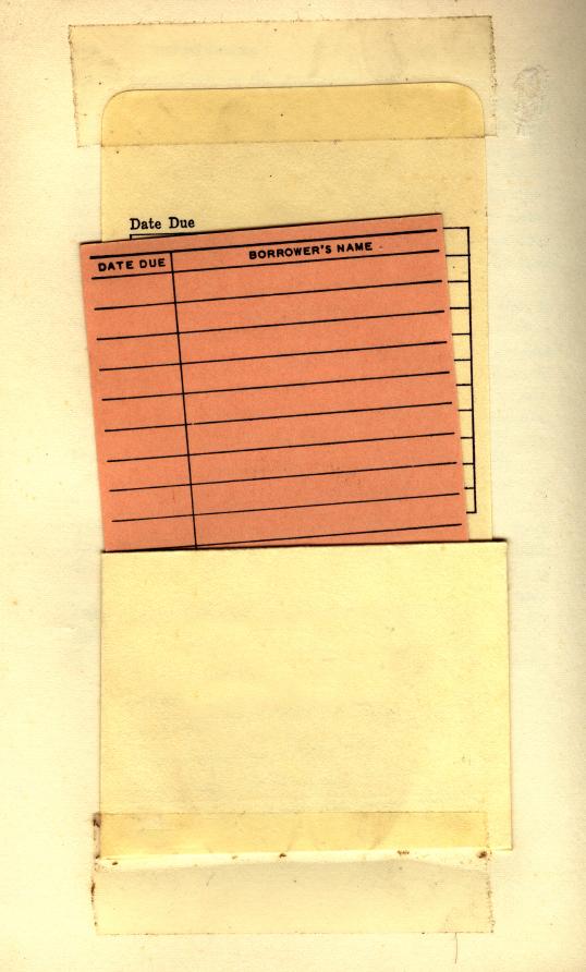 empty library loan card