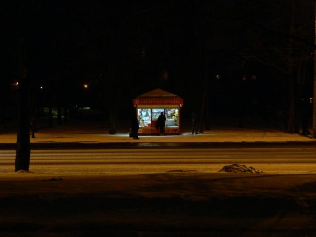 Vilnius kiosk night