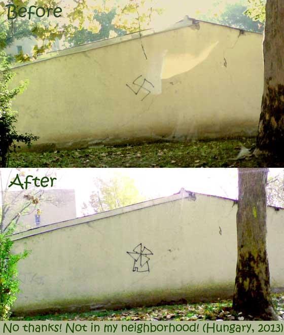 Hungary swastika windmill
