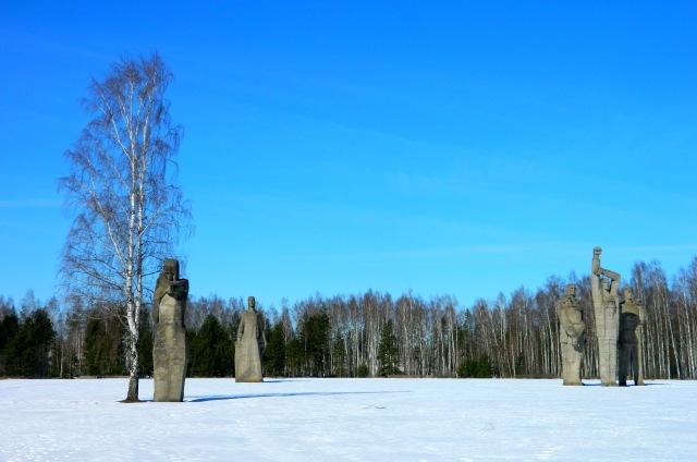 Salaspils memorial snow