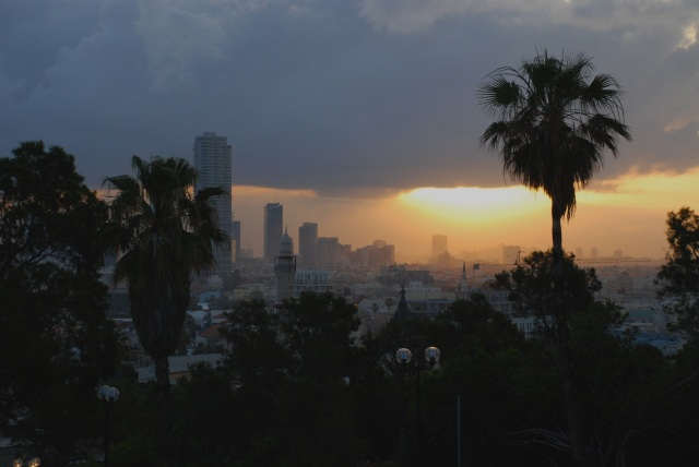 sunrise above Tel Aviv
