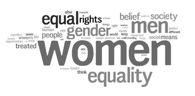 feminism wordcloud