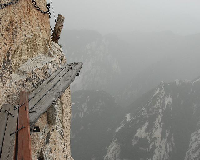 Huashan plank walk 3