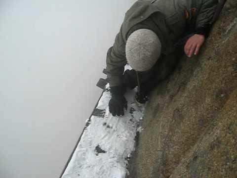 Huashan plank walk snow