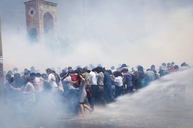 Gezi Park tear gas