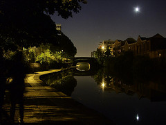 Regents Canal night by Stefan Schäfer