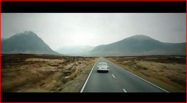 Skyfall road Scotland scene