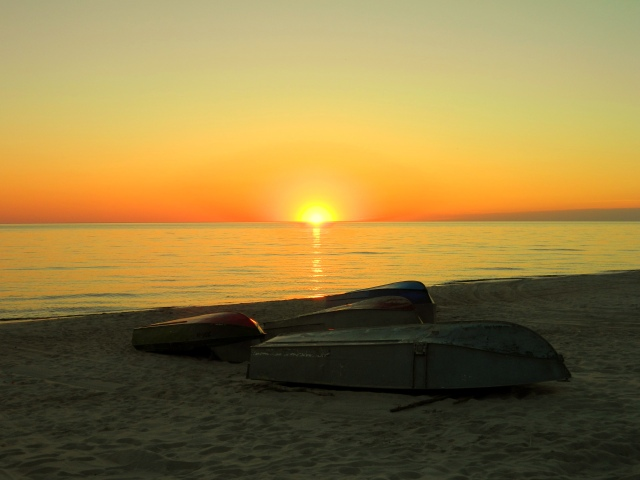 sunset Curonian Spit