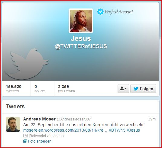 Jesus retweet