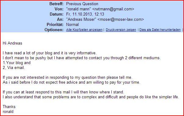 e-mail Ronald Mann pushy paradox