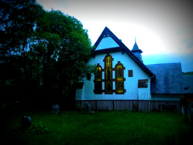 Inversnaid Hostel church 2