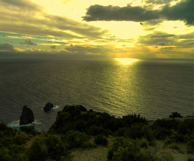 sunset Lipari 1
