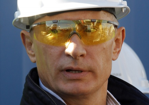 Putin construction worker