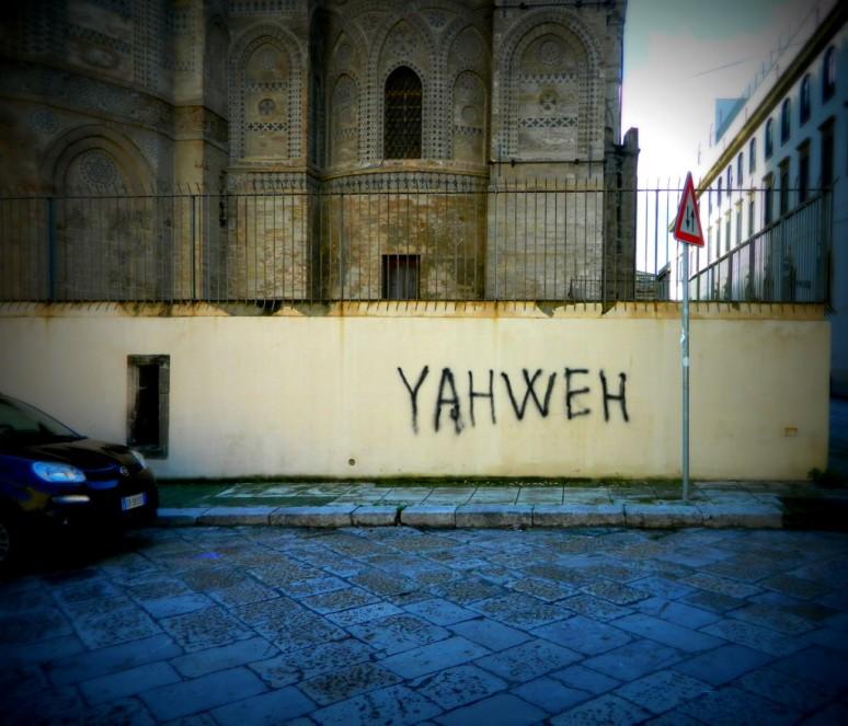 YAHWEH graffiti Palermo