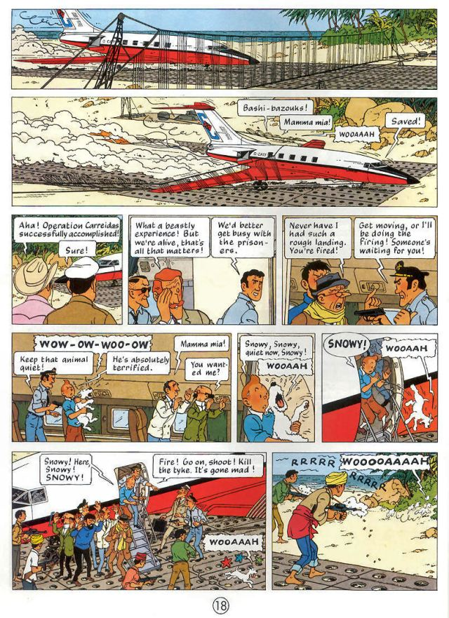 Flight-714-Tintin-landing