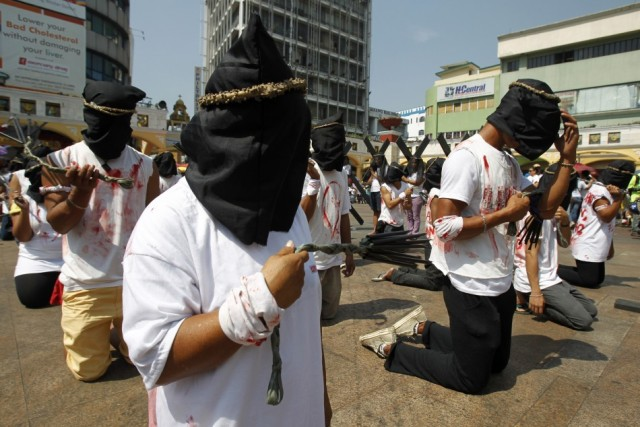 Philippines flagellation Easter 1