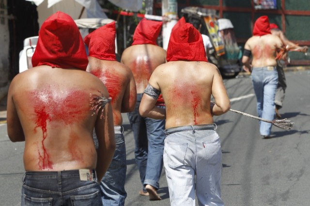 Philippines flagellation Easter 3