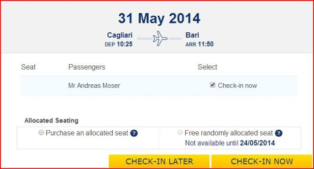 Ryanair check-in impossible
