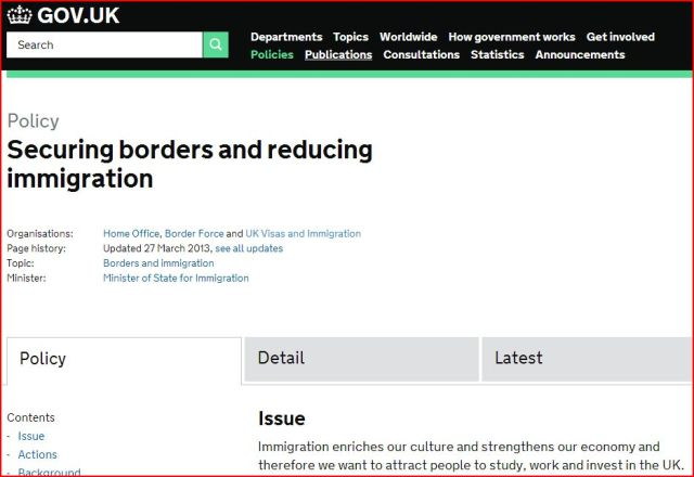 UK immigration policy irony