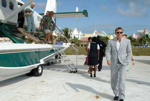 Casino Royale James Bond getting off plane