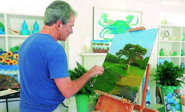 George W Bush painting