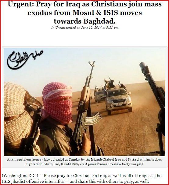 praying against ISIS
