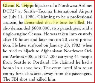 Glenn K Tripp hijacker