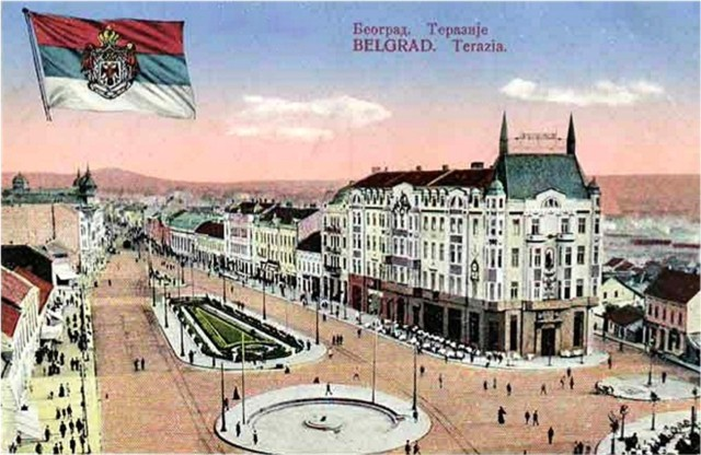 belgrade old postcard