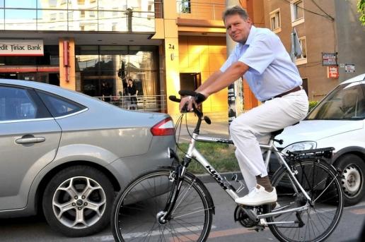 Klaus Iohannis bike