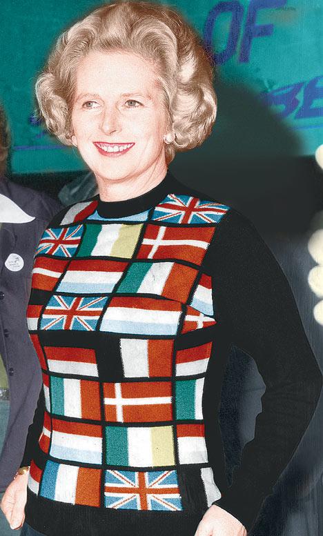 Margaret Thatcher EU pullover