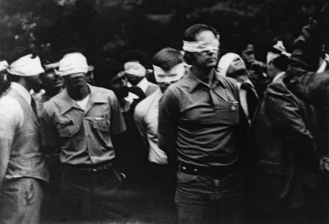 hostages Tehran blindfolded