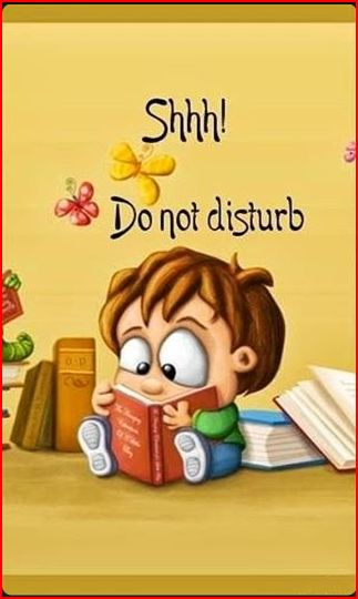 bookworm dont disturb
