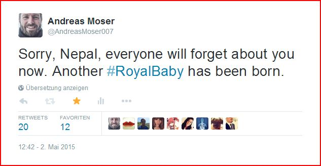 Royal baby tweet