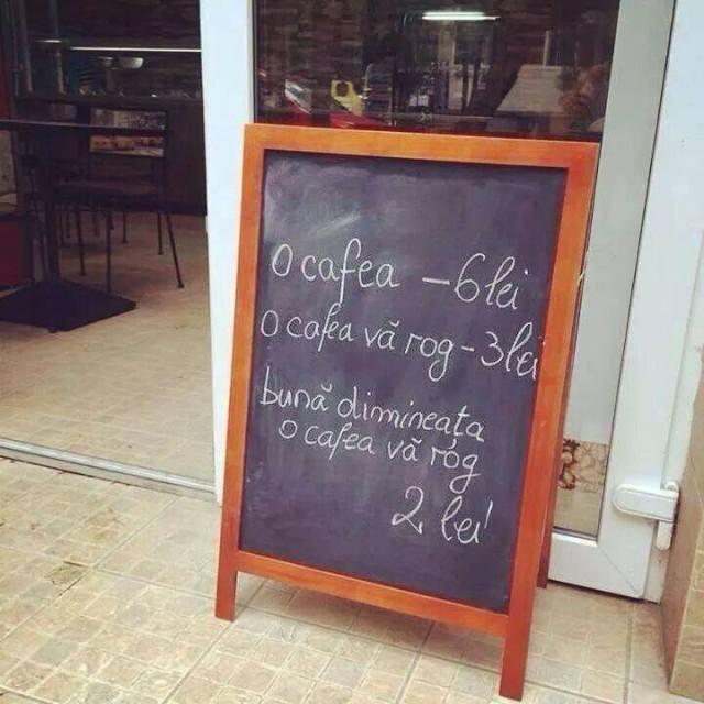 cafe 6 lei