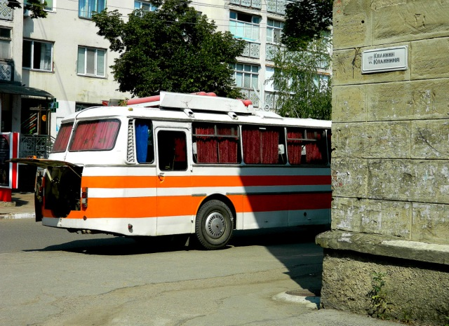 A bus in Transnistria.