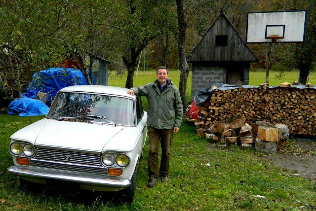 Andreas Moser mit Auto