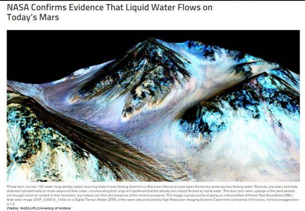 NASA water Mars