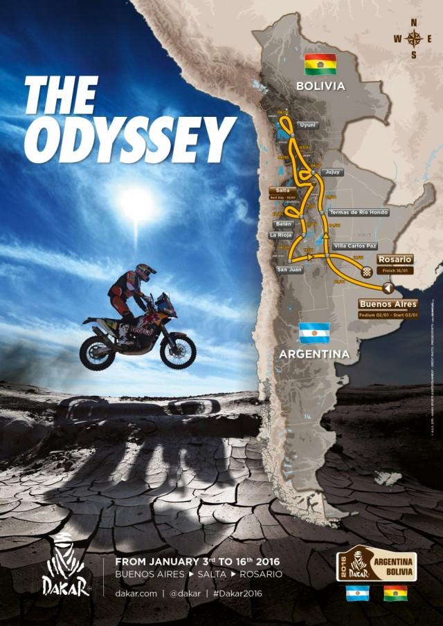Dakar 2016 map