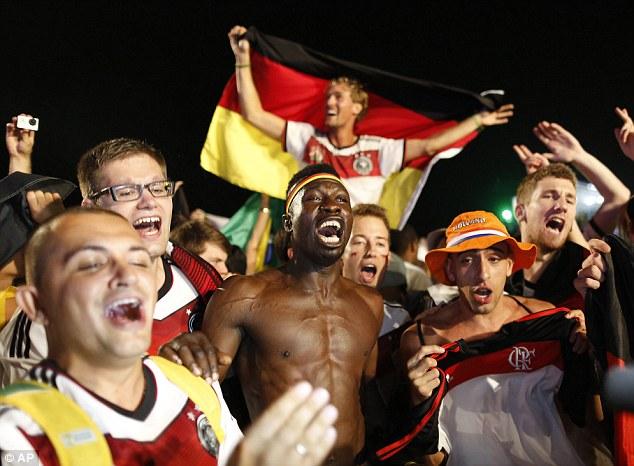 7-1 German fans