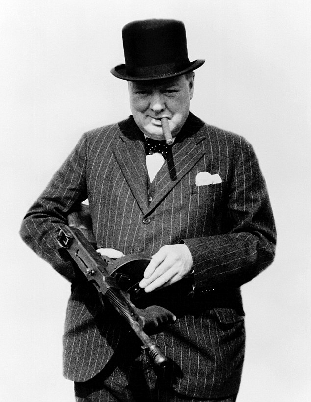 Winston Churchill machine gun