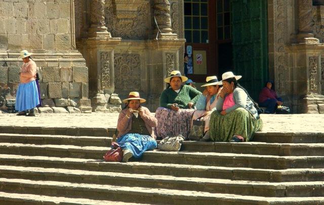 women bored after church.JPG