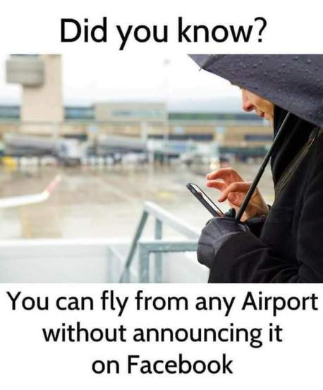 airport without facebook